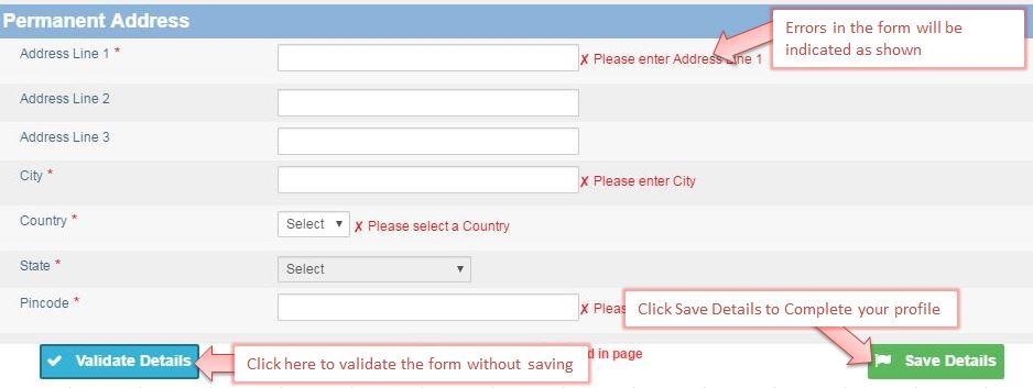 Register for CA Exam